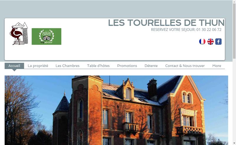 Capture d'écran du site de Les Tourelles de Thun