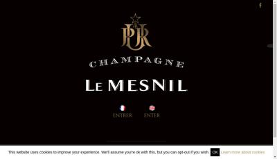Capture d'écran du site de Le Mesnil