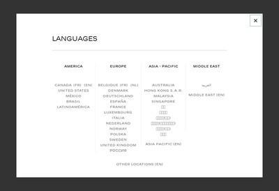 Site internet de Chanel