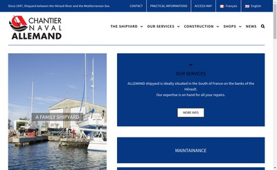 Site internet de Chantier Naval Allemand