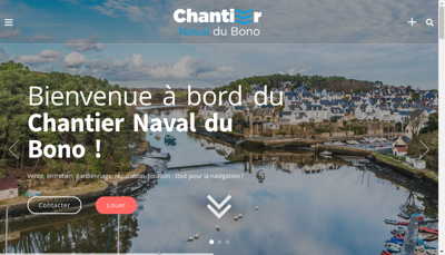 Capture d'écran du site de Chantier Naval du Bono