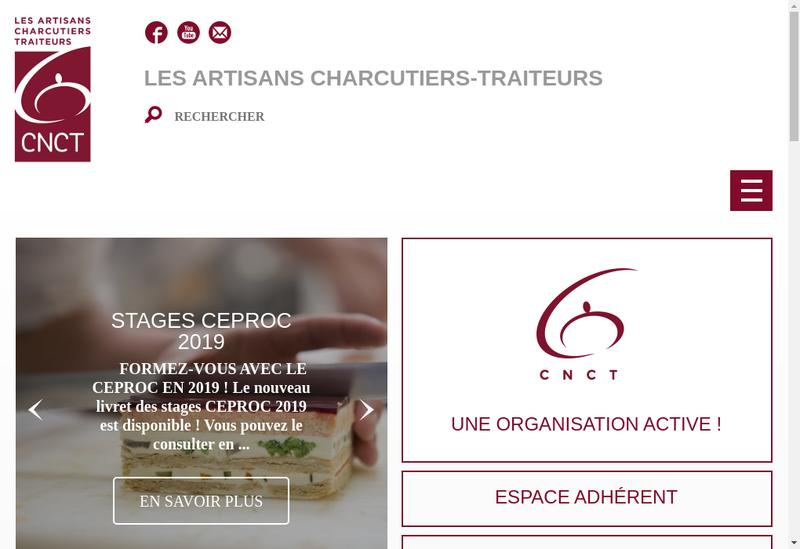 Capture d'écran du site de SI Confeder Charcuterie Franc