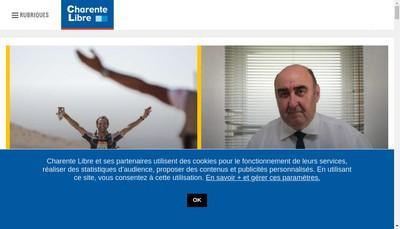 Site internet de La Charente Libre