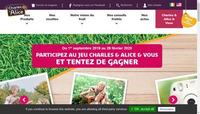 Site internet de Charles et Alice