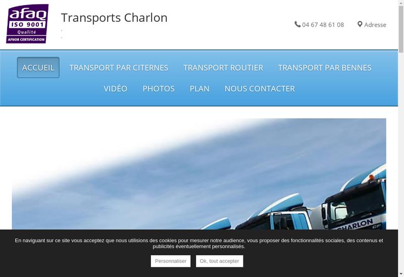 Capture d'écran du site de Transports Peysson