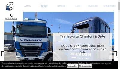 Site internet de SARL Transports Charlon