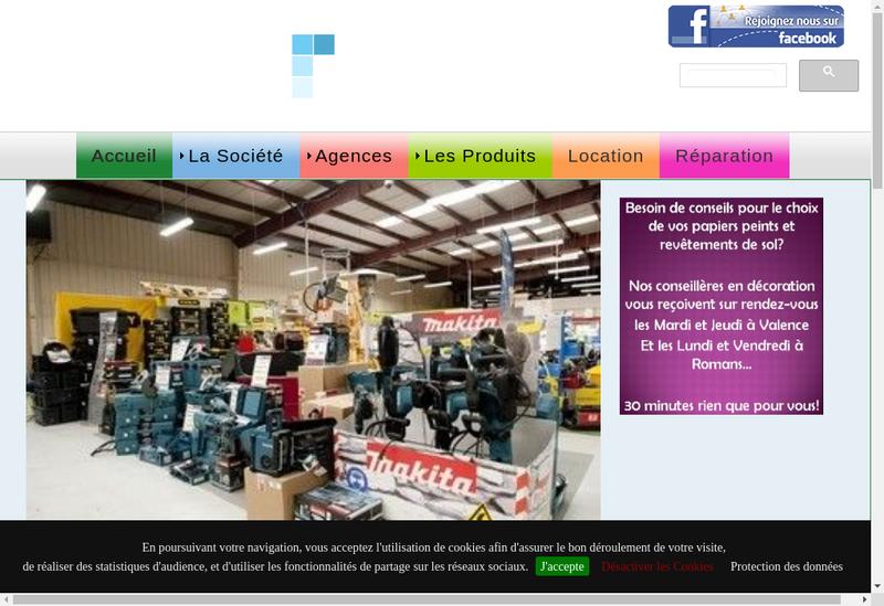 Capture d'écran du site de SAS Charpail