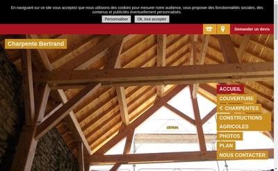 Site internet de Charpente Bertrand