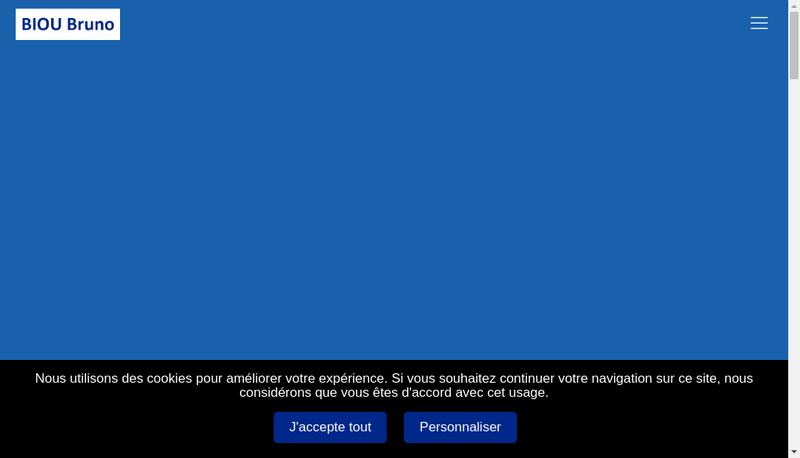 Capture d'écran du site de SARL Biou Bruno