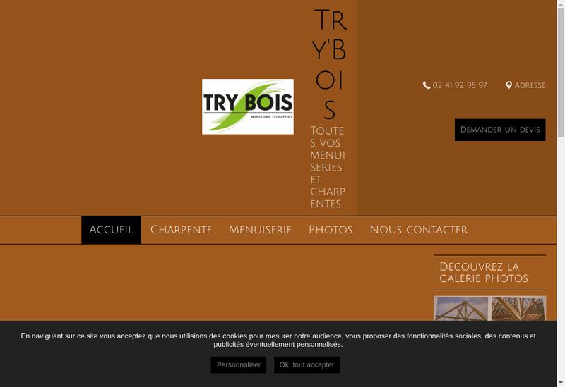 Capture d'écran du site de Try Bois