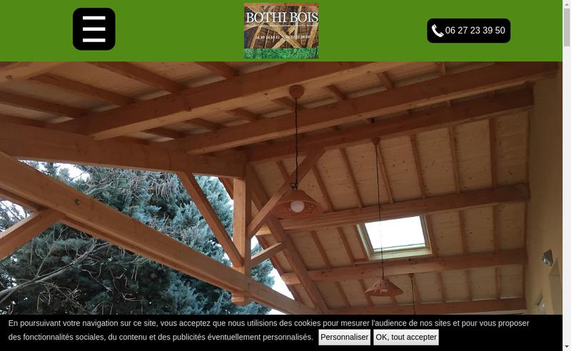 Capture d'écran du site de Bothi Bois