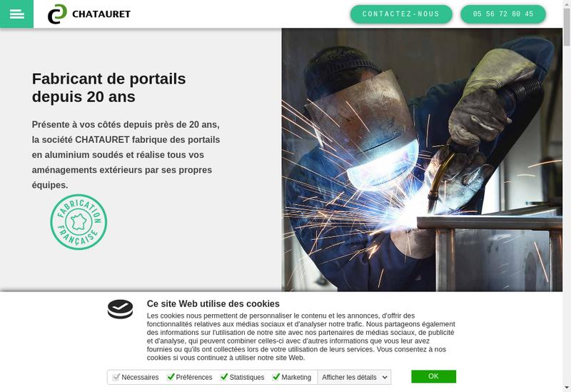 Capture d'écran du site de Chatauret
