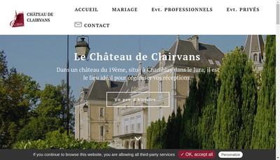Site internet de Chateau de Clairvans