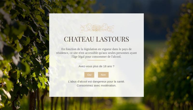 Capture d'écran du site de SCEA Chateau Lastours Gaillac