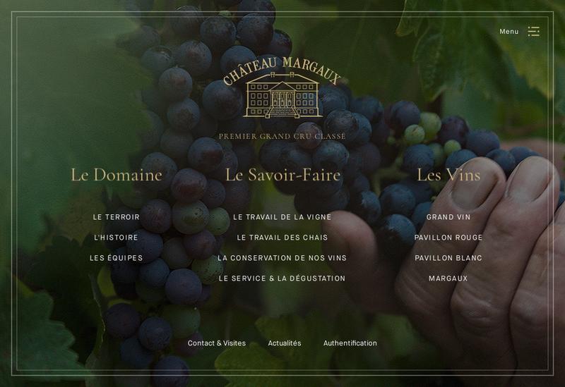 Capture d'écran du site de SCA Chateau Margaux