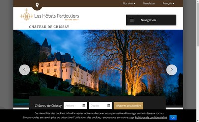 Site internet de Chateau de Chissay