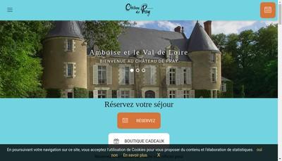 Site internet de Hotel Restaurant Chateau de Pray