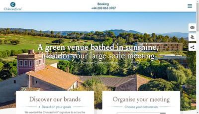 Site internet de Groupe Chateauform