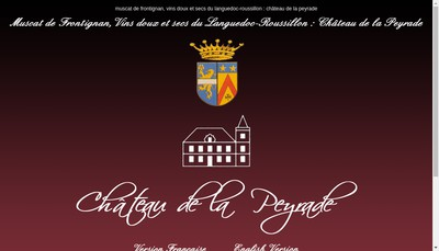 Site internet de Chateau de la Peyrade