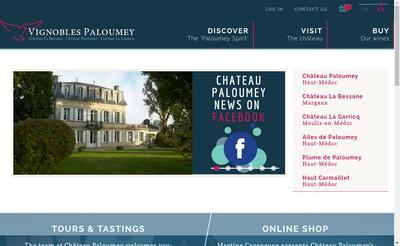 Site internet de Chateau Paloumey
