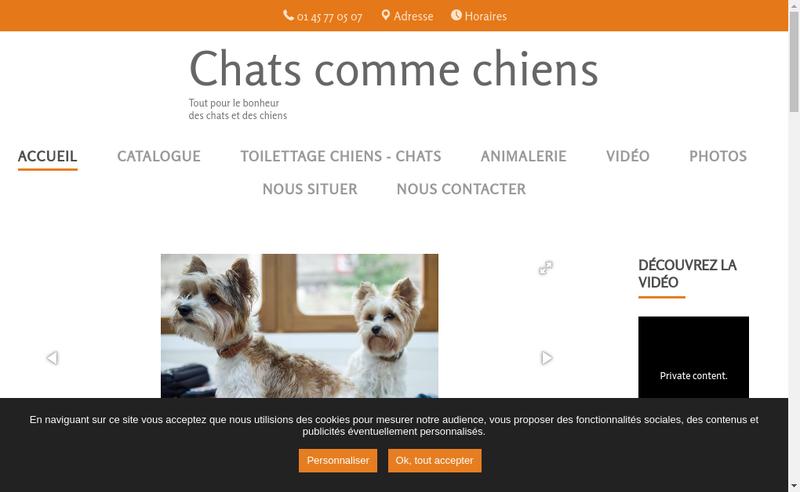 Site internet de Chats Comme Chiens