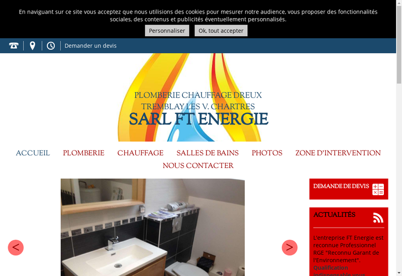 Capture d'écran du site de SARL Ft Energie