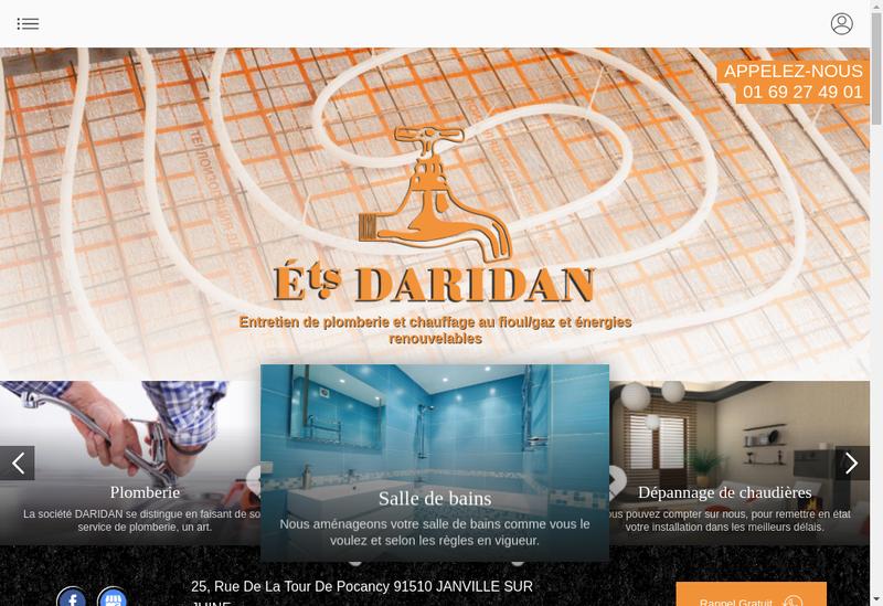 Capture d'écran du site de Etablissements Daridan