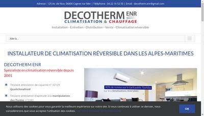 Site internet de Decotherm ENR