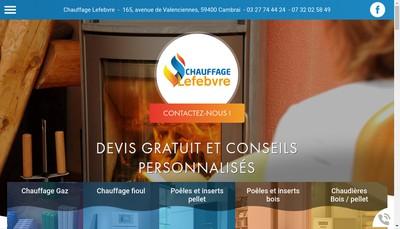 Site internet de Chauffage Lefebvre