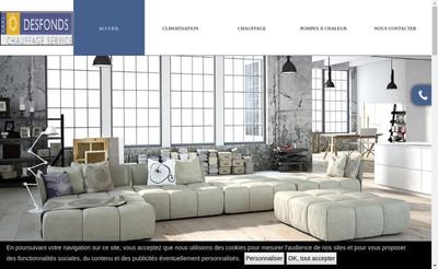 Site internet de SARL Desfonds Chauffage Service