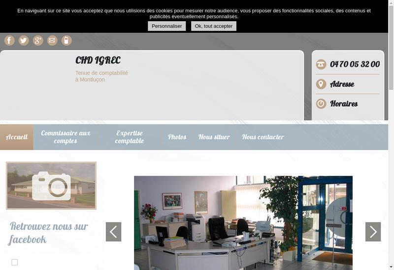 Capture d'écran du site de Igrec