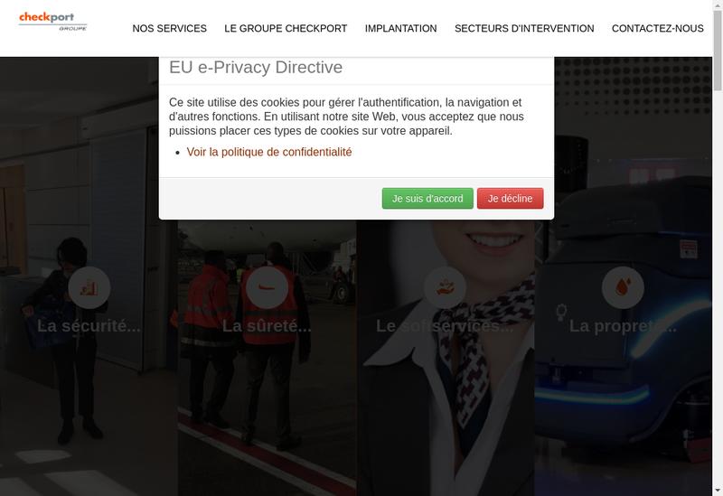 Capture d'écran du site de Checkport Securite