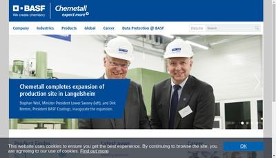 Site internet de Chemetall SAS
