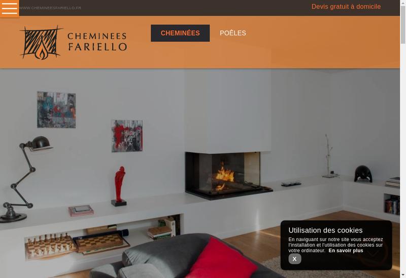 Capture d'écran du site de Cheminees Fariello