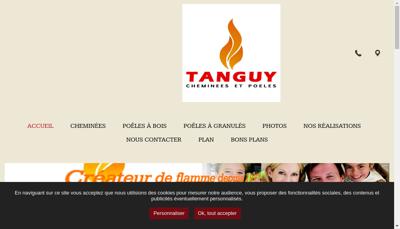 Capture d'écran du site de SARL Cheminees Tanguy