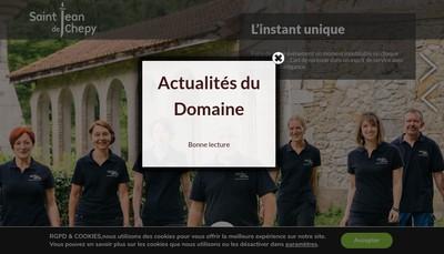 Site internet de Societe Domaine de St Jean de Chepy