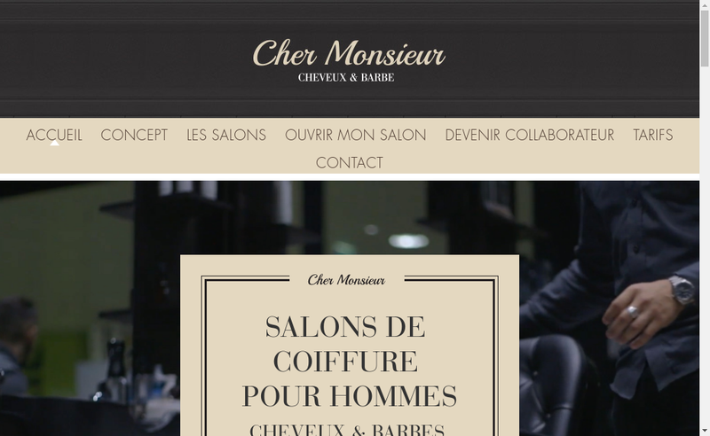 Capture d'écran du site de Cher Monsieur
