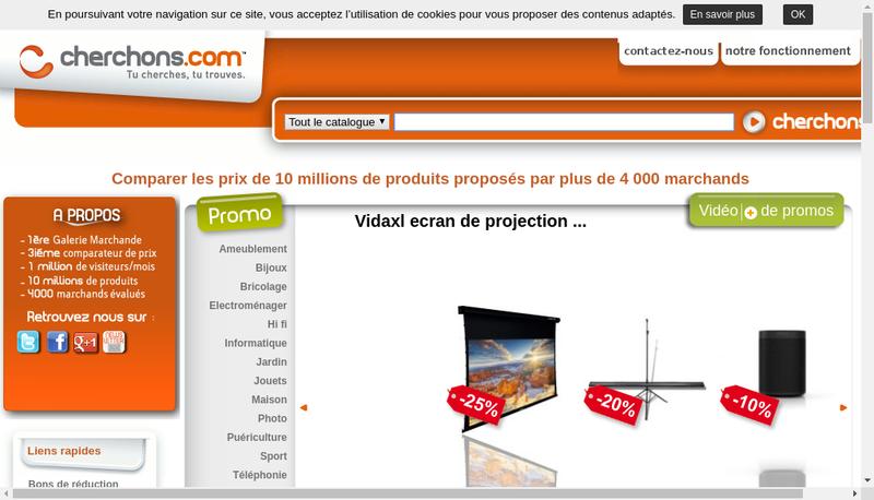 Capture d'écran du site de Cherchons Com