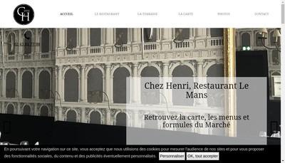 Site internet de Chez Henri le Paddock