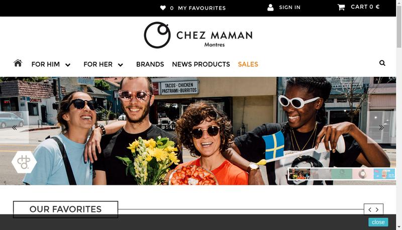 Capture d'écran du site de Chez Maman