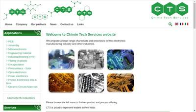 Site internet de Chimie Tech Services