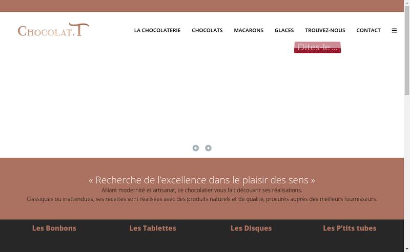 Capture d'écran du site de Chocolat T