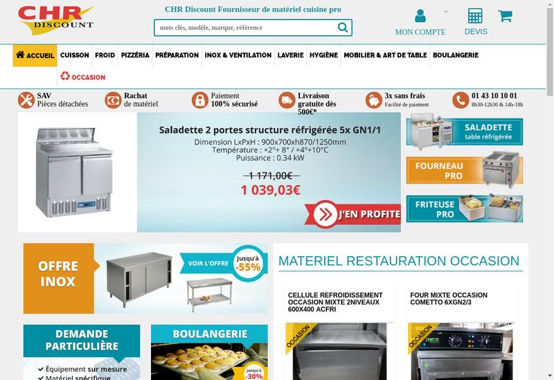 Capture d'écran du site de Chr Discount