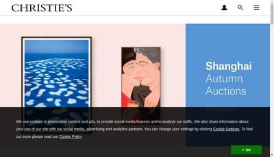 Site internet de Christie'S France SNC