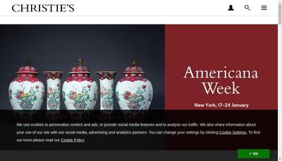 Site internet de Christie'S France SAS