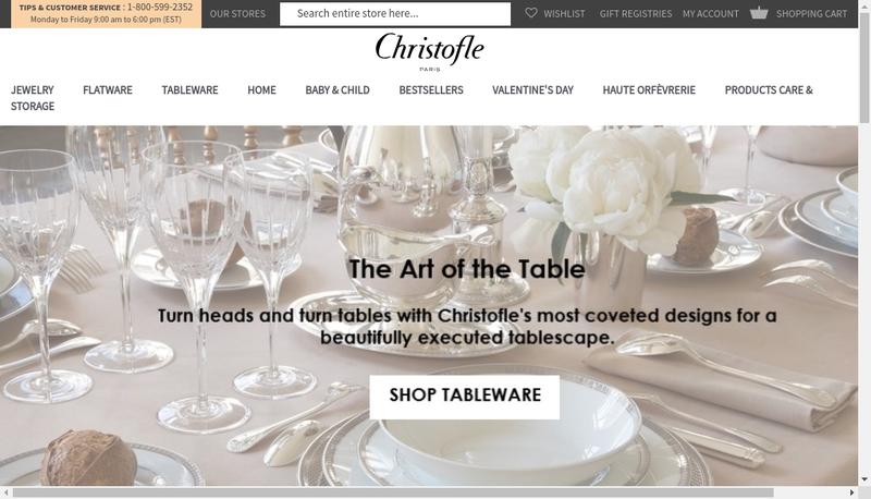 Capture d'écran du site de Pavillons-Art de la Table-Argenterie-