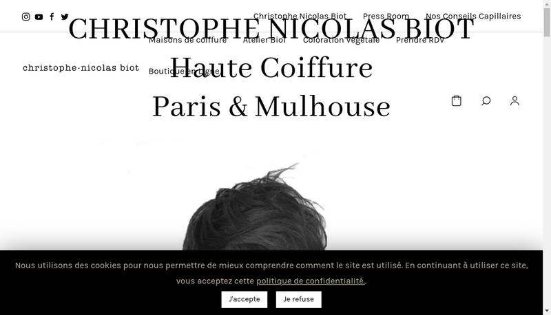 Capture d'écran du site de Christophe Nicolas Biot
