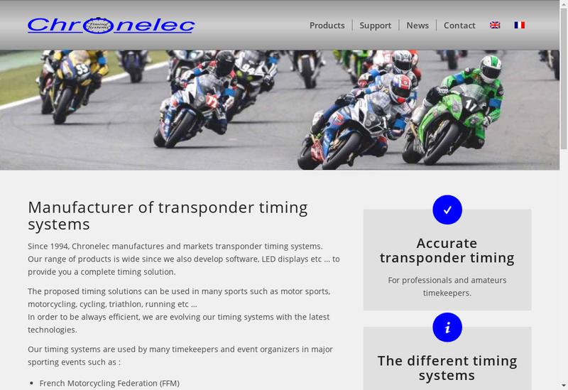Capture d'écran du site de Chronelec