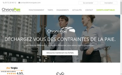 Site internet de Chronopaie
