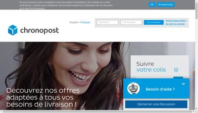 Site internet de Chronopost